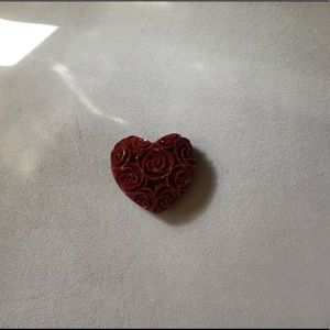 Carved heart paper weight